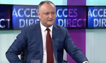 """Додон: Подписавшие декларации об """"унири"""" ответят перед законом"""