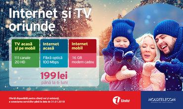 Internet şi TV oriunde, cu Moldtelecom ®