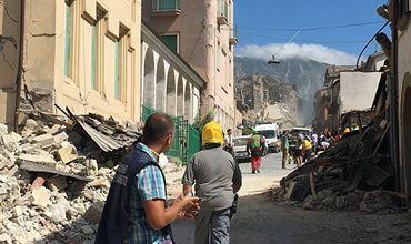 Сильное землетрясение произошло минувшей ночью в центральной части Италии.