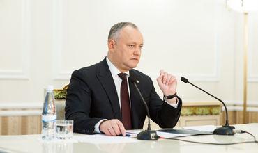 Додон призвал граждан не участвовать в мероприятиях унионистов