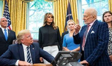 Базз Олдрин на встрече с Трампом заявил о своем разочаровании в действиях NASA за последние 10-15 лет.