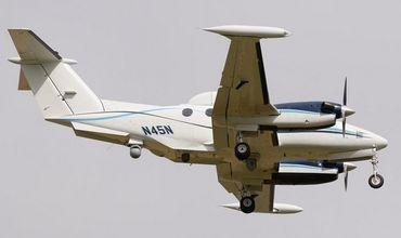 Несмотря на то, что этот самолет принадлежит гражданской компании, он модернизирован и оснащен специальным оборудованием.