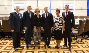 Канду провел встречу с Парламентской группой дружбы Эстония-Молдова.