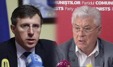 """Киртоакэ обвинил Воронина в том ,что режим, которым руководил бывший президент, приватизировал не только """"Гаудеамус"""", но и """"Национал"""" и """"Кодру""""."""