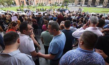В Ереване завершилась акция протеста с требованием отставки мэра.