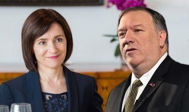 Премьер-министр Майя Санду планирует встретиться с государственным секретарем США Майком Помпео.