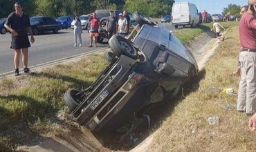 Водитель чудом выжил после того, как машина перевернулась под Оргеевом