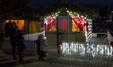 Праздничная ярмарка в центре Ниспорен привлекает местных жителей. Фото: piblika.md