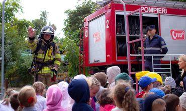 В столичном детском саду прошли учения по пожарной безопасности