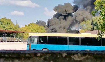 На столичной улице Мессаджер вспыхнул пожар