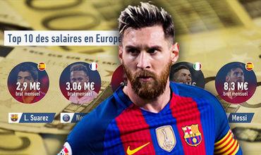Аргентинец получает 8,3 млн евро, что почти в два раза больше, чем у португальца Криштиану Роналду.
