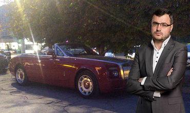 Габриэль Стати демонстративно паркует свой Rolls-Royce на тротуаре