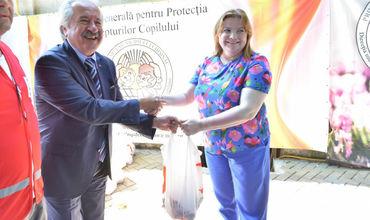 Говядину из Турции пожертвовали центрам размещения детей .