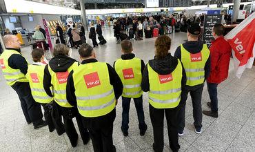 В немецких аэропортах проходит забастовка