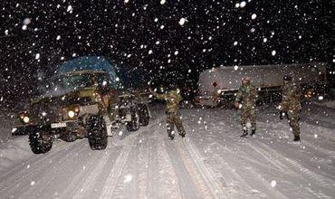 Национальная армия готова прийти на помощь для уборки снега.