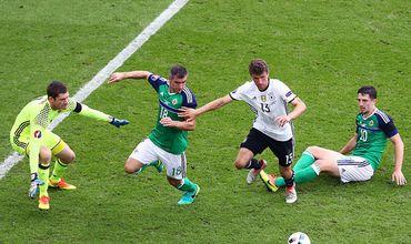 Сборная Германии обыграла Северную Ирландию со счетом 1:0.