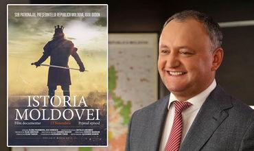 Dodon invită la lansarea filmului promis despre istoria Moldovei
