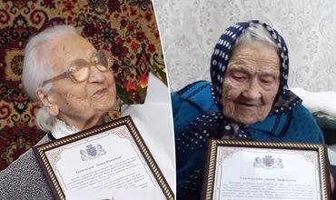 Анна Петрусенко и Лидия Давыдовская отметили 101-й день рождения 12 апреля.