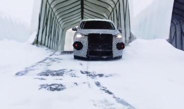 Электрический кроссовер Ford в стиле Mustang устроил дрифт на льду.