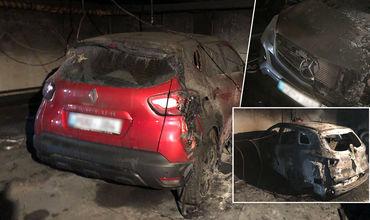 В Кишиневе на подземной парковке многоэтажного дома сгорели автомобили.
