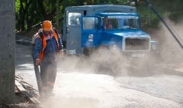 Начался ремонт дороги по ул. Студенческой на отрезке от ул. Димо до ул. Садовяну и Думенюк.