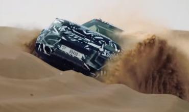 Land Rover испытал новый Defender в пустыне
