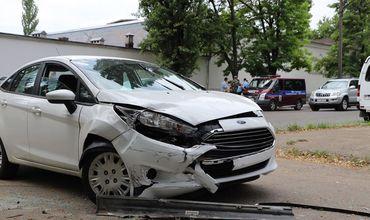 В Тирасполе столкнулись два легковых авто: жертв удалось избежать.