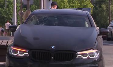 В Тирасполе BMW проехал на красный и стал виновником ДТП