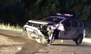 Вблизи Кирсово столкнулись машина полиции и два мотоцикла, погиб человек.