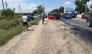 В Рышканах произошло ДТП, столкнулись 5 машин