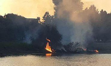 В парке La Izvor произошел пожар