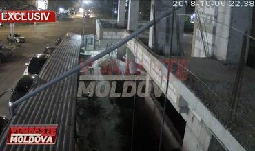 Камера наблюдения зафиксировала взрыв в доме на Рышкановке.