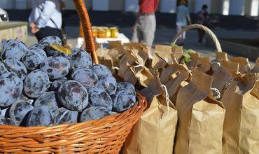 В центре Кишинева проходит ярмарка фруктов