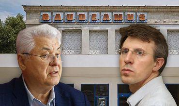 """Владимир Воронин намерен судиться с Дорином Киртоакэ из-за заявлений последнего о том, что он приватизировал здание бывшего кинотеатра """"Гаудеумус"""" в 2004 году."""