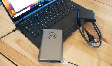 Пару лет назад компания Dell выпустила на рынок внешний аккумулятор емкостью 12800 мАч.
