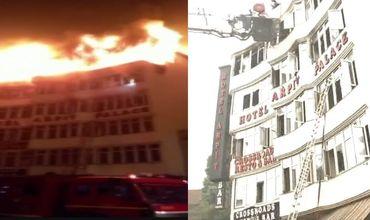 В Индии девять человек погибли при пожаре в гостинице