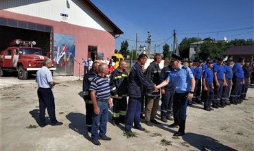В Хынчештах открылась новая волонтёрская пожарная часть