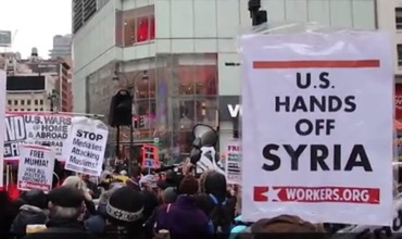 Жители Нью-Йорка и Окленда протестовали против американской агрессии.