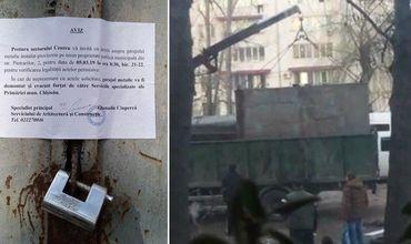 Вчера в столичном секторе Центр сотрудники претуры снесли гараж, который был построен незаконно