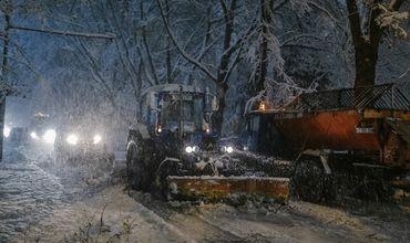 Дорожные службы мэрии Кишинева будут работать всю ночь из-за непогоды
