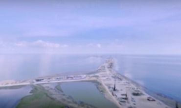 (ВИДЕО) Появилось панорамное видео моста через Керченский пролив