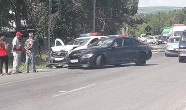 Автомобиль полиции попал в ДТП в Кишиневе.