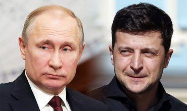 Президент России Владимир Путин и президент Украины Владимир Зеленский.