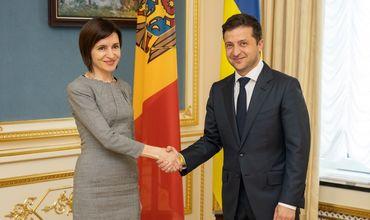Встреча премьер-министра Молдовы Майи Санду с президентом Украины.