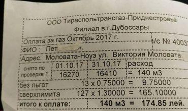 Prețul gazelor în Transnistria. Locuitor: Dați foc la MoldovaGaz
