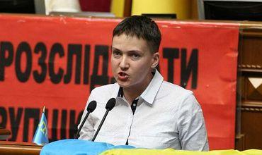 Депутат Верховной рады Надежда Савченко.