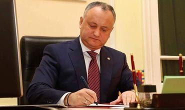 Игорь Додон подписал указ об отставке Тэнасе