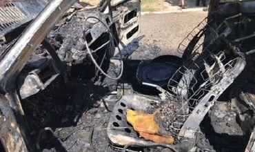 В центре Тараклии выгорел автомобиль