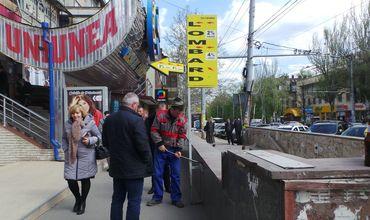 На Рышкановке демонтируют незаконные рекламные конструкции