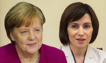 Майя Санду встречается с Ангелой Меркель в Берлине.